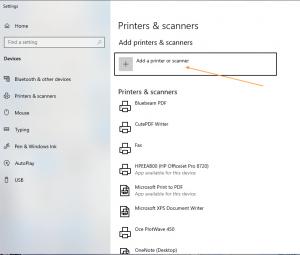 add printer or scanner