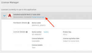 see licenses in use in autodesk
