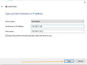 printer hostname