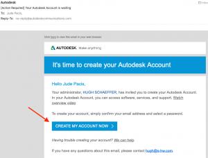 how to create autodesk account