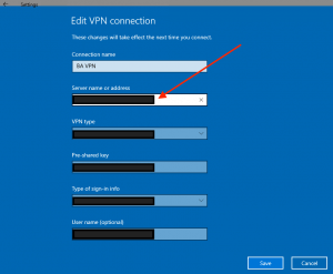 edit vpn connection for windows